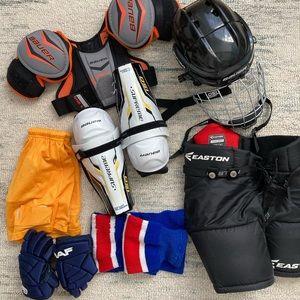 Bundle of ice hockey gear
